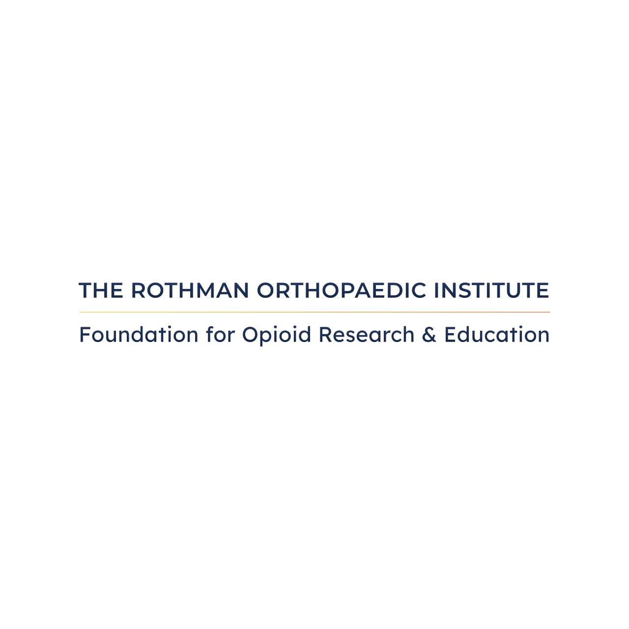 The Rothman Orthopedic Institute Foundation for Opioid Research and Education